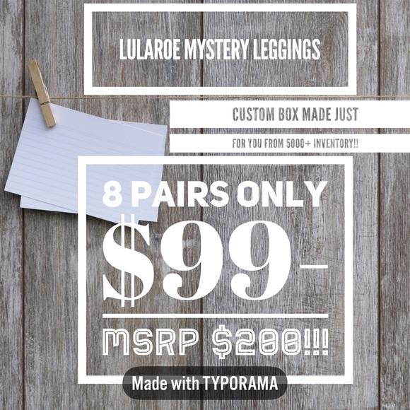 740dbc0085fa2d LuLaRoe Pants | New 8 Tc Leggings Mystery Box | Poshmark